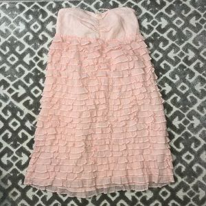 J. Crew Collection Pink Ruffle Dress NWT
